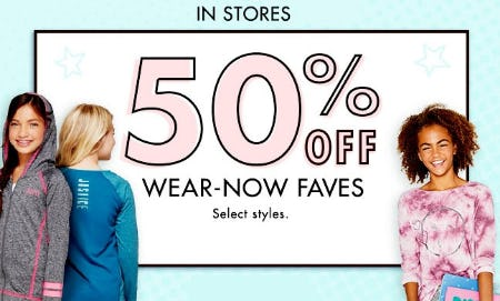 50% Off Wear-Now Faves