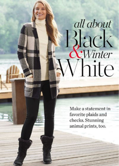 All About Black & Winter White from Talbots
