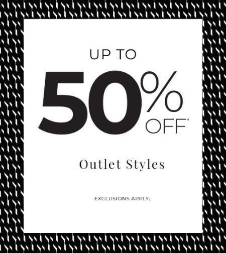 Up to 50% Off Outlet Styles