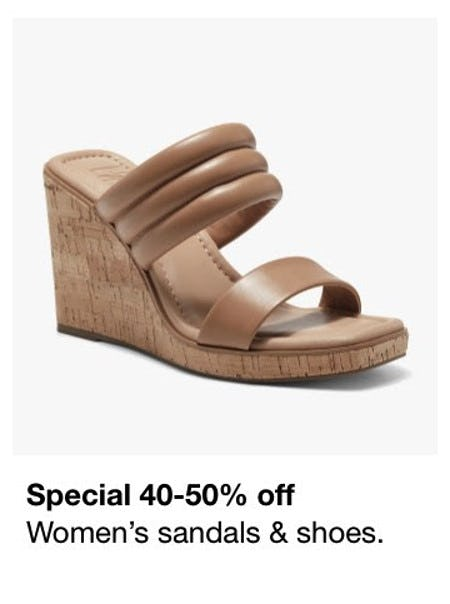 40-50% Off Women's Sandals & Shoes from Macy's Men's & Home & Childrens