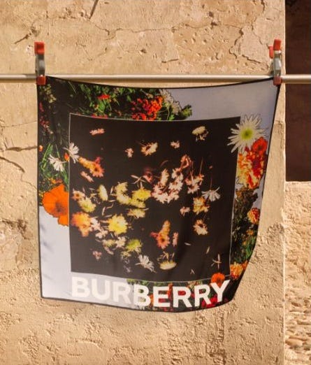 The Floral Print Silk Scarf from Burberry