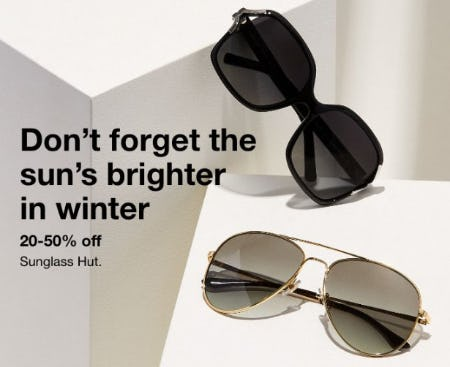 20-50% Off Sunglass Hut
