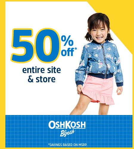 Game On! 50% Off Entire Store from Oshkosh B'gosh