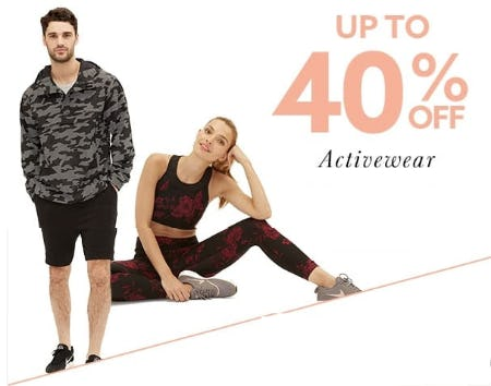 Up to 40% Off Activewear from Lord & Taylor