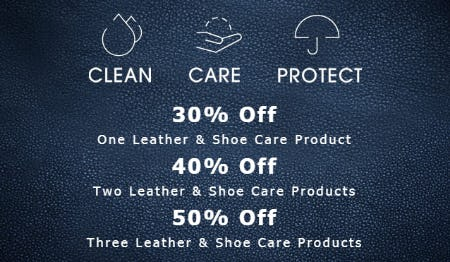 Up to 50% Off on Leather & Shoe Care Products from ECCO