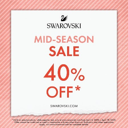 ONLINE SALE 40% OFF from Swarovski