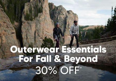 30% Off Outerwear Essentials from Eddie Bauer