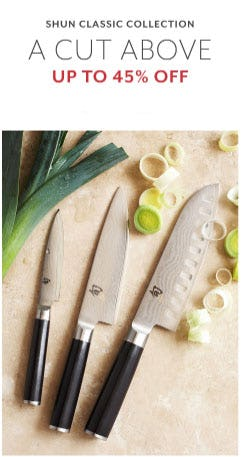 Up to 45% Off Shun Classic Collection from Sur La Table