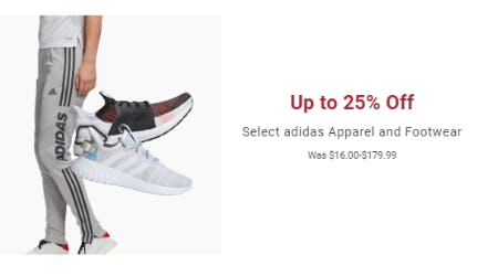 Up to 25% Off Select adidas Apparel and Footwear from Dick's Sporting Goods