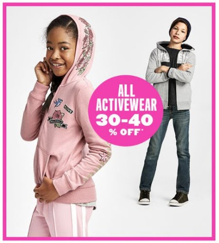 All Activewear 30-40% Off from The Children's Place