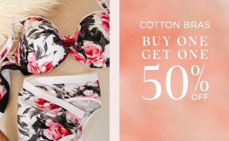 Cotton Bras Buy One, Get One 50% Off from Lane Bryant