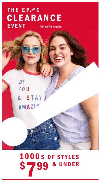 The Epic Clearance Event from Old Navy