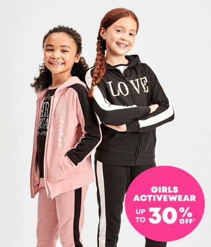 Girls Activewear up to 30% Off