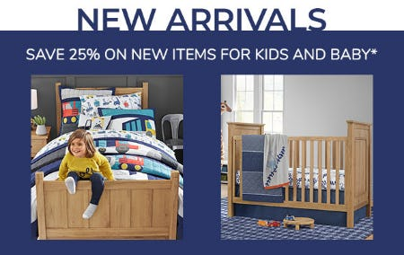 Save 25% on New Items for Kids and Baby from Pottery Barn Kids