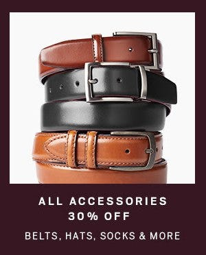 All Accessories 30% Off from Men's Wearhouse