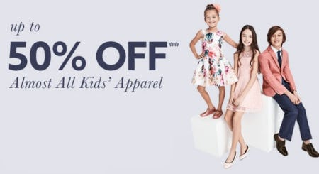Up to 50% Off Almost All Kids' Apparel from Lord & Taylor