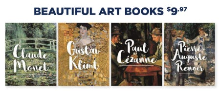 Beautiful Art Books at $9.97 from Books-A-Million
