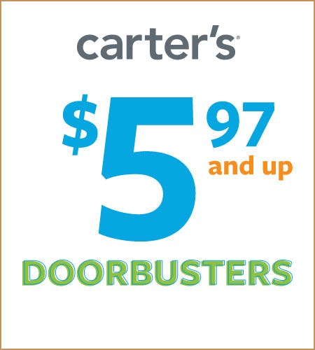 $5.97 & Up Doorbusters* from Carter's