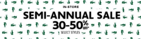 Semi-annual Sale 30–50% Off