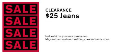 $25 Clearance Jeans