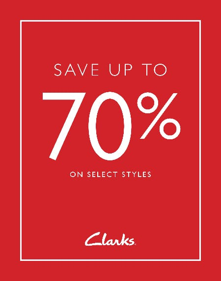 Save up to 70% Off from Clarks