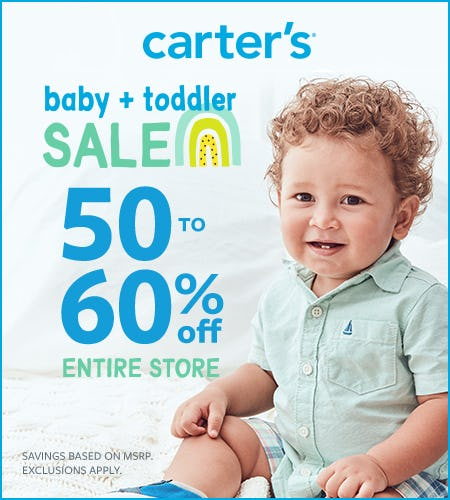 Baby + Toddler Sale: 50-60% Off Entire Store from Carter's