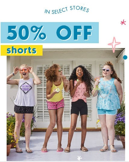 50% Off Select Shorts