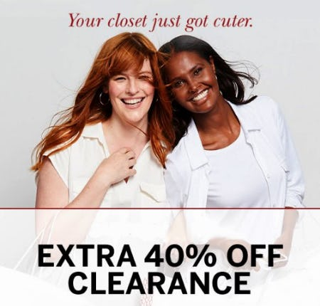 Extra 40% Off Clearance from Dressbarn