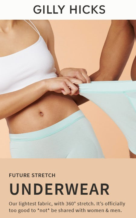 Discover the Super Stretchy Underwear from Hollister Co.