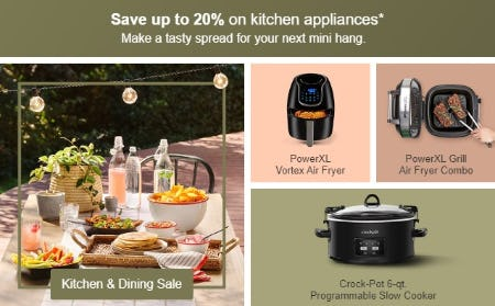 Save Up to 20% on Kitchen Appliances from Target