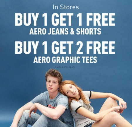 BOGO Free Aeroe Jeans & Shorts from Aéropostale