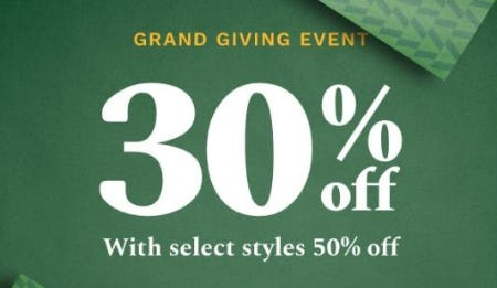 Grand Gifting Event from Cole Haan