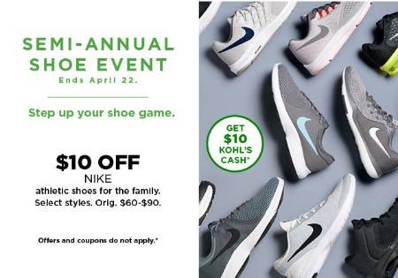 $10 Off Semi-Annual Shoe Event
