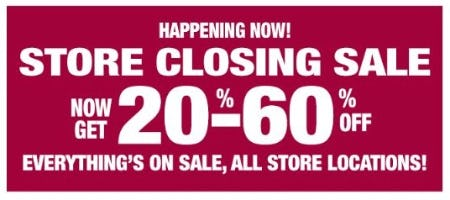 Store Closing Sale: 20%–60% Off from Dressbarn