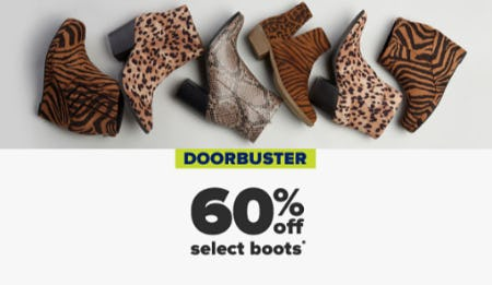 60% Off Select Boots from Belk