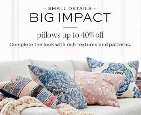 db035c1726 Up to 40% Off Pillows from Pottery Barn