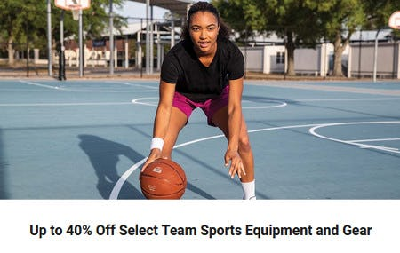 Up to 40% Off Select Team Sports Equipment and Gear from Dick's Sporting Goods