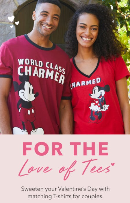 Perfect Pair: New Tees Are Couple Goals from Disney Store