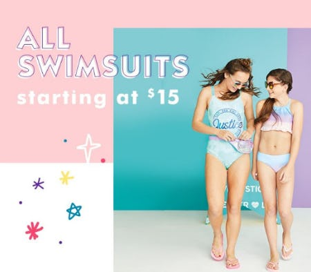 All Swimsuits Starting at $15 from Justice