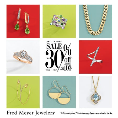 Fall In  Love Sale from Fred Meyer Jewelers