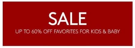 Up to 60% Off Favorites for Kids and Baby from Pottery Barn Kids