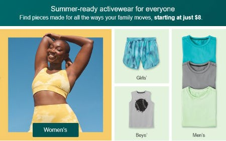 Activewear Starting at Just $8 from Target