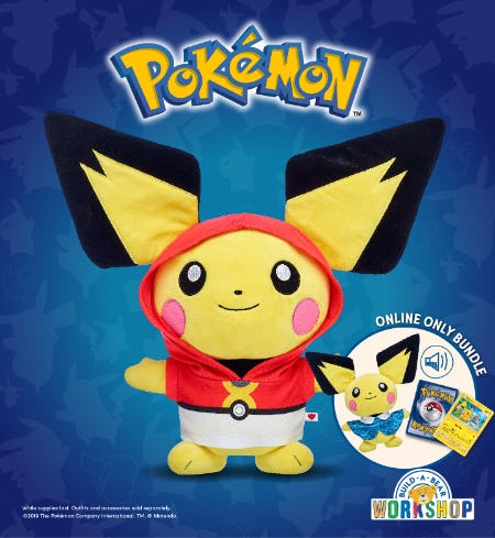 Pokémon Trainers! The Adorable Electric-Type Pichu Has Arrived at Build-A-Bear Workshop!®