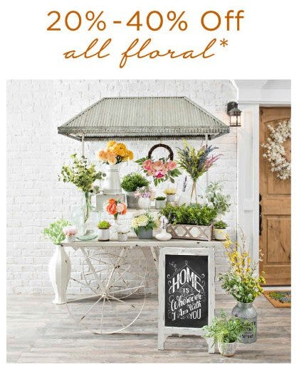 20-40% Off All Floral from Kirkland's