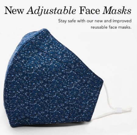 New Adjustable Face Masks from Johnston & Murphy