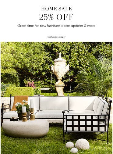 25% Off Home Sale from Neiman Marcus