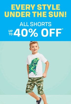 All Shorts up to 40% Off from The Children's Place Gymboree