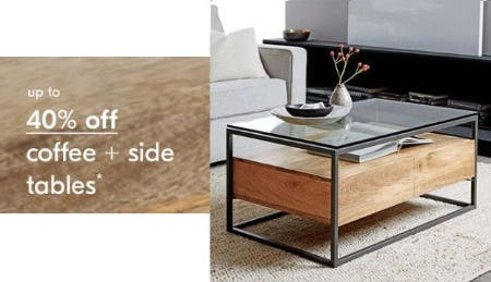Up to 40% Off Coffee & Side Tables from West Elm