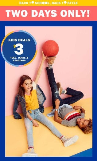 $3 Kids Deals from Old Navy