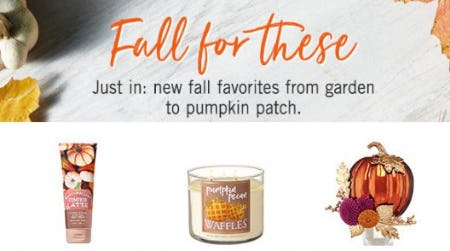 Shop Fall Arrivals from Bath & Body Works